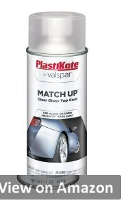 PLASTIKKOTE clear coat spray can